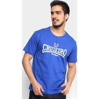 Camiseta Cruzeiro Time De Tradição Masculina - Masculino-Azul