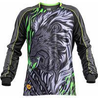 Camisa Goleiro Manga Longa Poker Sublimax Lion Masculina - Unissex