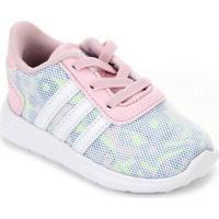 Tênis Infantil Adidas Lite Racer - Unissex-Pink+Branco