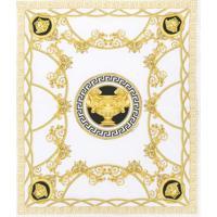 Young Versace Cobertor Com Estampa Greek Key - Branco