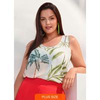 Blusa Tecido Rayon Bali Verde