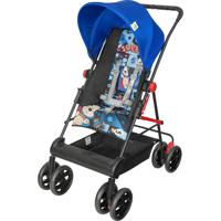 Carrinho Novo Damiano Tutti Baby Azul Reversível