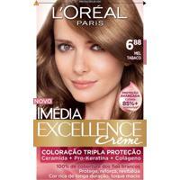 Tintura Imédia Excellence L'Oréal Creme 6.88 Mel Tabaco