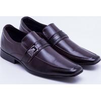 Sapato Social Couro Mr. Post Fivela Masculino - Masculino