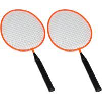 Kit Badminton Infantil Ahead Sports 2 Raquetes 1 Peteca Winmax - Wmy02021Z2 - Laranja
