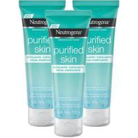 Kit 3 Esfoliante Facial Neutrogena Purified Skin 100G