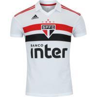 Camisa Do São Paulo I 2018 Adidas - Masculina - Branco/Vermelho