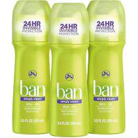 Ban Kit Desodorante Antitranspirante Roll-On 103Ml Trio - Simply Clean