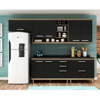 Cozinha Compacta New Vitoria 7 Pt 5 Gv Avelã Com Onix