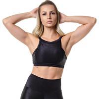 Top Fitness Feminino Preto Ellegance