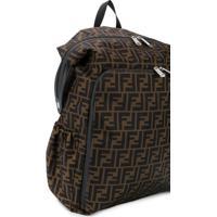 Fendi Kids Ff Logo Print Backpack - Neutro