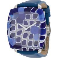 Yunik Relógio Tonneau Quadrado - Azul