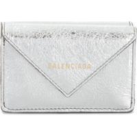 Balenciaga Carteira Papier Mini - Prateado