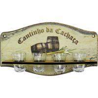 Cantinho Da Cachaça Kasa Ideia C/ 4 Copos - Tricae