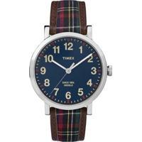 Relógio Timex-Tw2P69500Ww - Masculino-Marrom+Azul