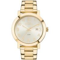 Relógio Feminino Technos Dress 2115Mnd/4X Pulseira Aço Dourada - Feminino-Dourado