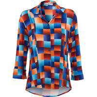 Camisa Acinturada Estampa Digital Exclusiva Canellado