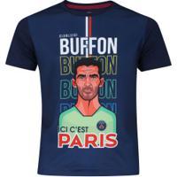 Camiseta Psg Buffon Bomache - Infantil - Azul Escuro