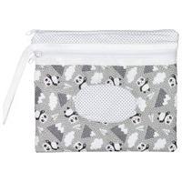 Necessaire De Bebê Panda Mescla Com Porta Lenço Umedecido Mescla