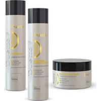 Kit Queratina Duetto 1 Shampoo 300Ml + 1 Cond 300Ml+ 1 Máscara Tutano 280G - Unissex-Incolor