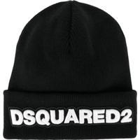 Dsquared2 Gorro De Lã Com Logo - Preto