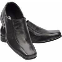 Sapato Social Infantil Clássico Couro Legítimo Garra - Masculino-Preto