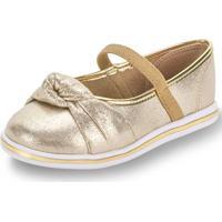 Sapatilha Baby Molekinha - 2132103 Ouro 17