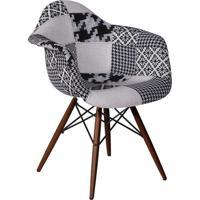 Poltrona Eames- Preta & Branca- 70X60X52Cm- Or Dor Design
