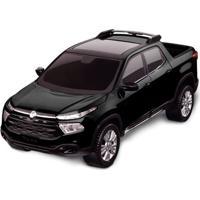 Carrinho Roda Livre - Pick Up - Fiat Toro - Preto - Roma Jensen
