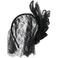 Maison Michel Headband Com Renda - Preto