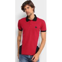 fabf0eae609d9 ... Camisa Polo Em Piquet Rg 518 Com Recortes Masculina - Masculino-Vermelho