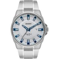 Relógio Orient Masculino Mbss1369 S1Sx Pulseira E Caixa Aço Prateado Mostrador Branco