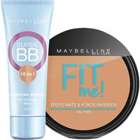 Kit Maybelline Super Bb Cream Cor Médio + Pó Compacto Fit Me Médio Único Cor 200 - Feminino
