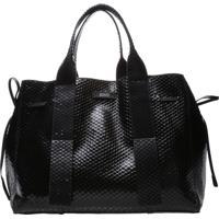 Shopping Maxxi Bag Bright Snake Black   Schutz