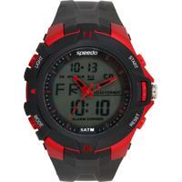Relógio Speedo 81136G0Evnp1 Preto/Vermelho