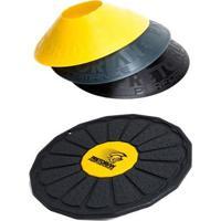 Kit Disco De Equilíbrio Com Ajuste De Altura Pretorian De-Pp + 12 Half Cones Chapéu Chinês - Unissex