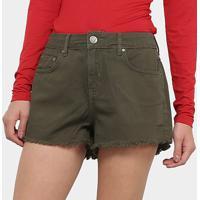 Shorts Jeans Sommer Feminino - Feminino-Verde