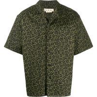 Marni Camisa Mangas Curtas Com Estampa Camuflada - Verde