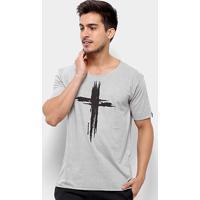 Camiseta Bossa Brasil Cross Masculina - Masculino-Cinza