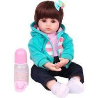 Boneca Reborn Laura Baby Brenda Com Acessórios - Feminino-Colorido