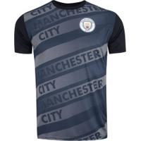 Camiseta Manchester City Saymon - Masculina - Azul Esc/Preto