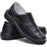 Sapato Anti Stress Cla-Clê Couri Masculino - Masculino-Preto