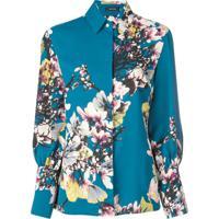 Natori Blusa Floral - Azul