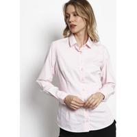 Camisa Em Algodão Egípcio Com Bolso & Bordado - Branca &Dudalina
