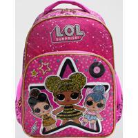 Mochila Lol Estrela Infantil Grande Luxcel (Pink, G)