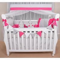 Kit Berço Americano 12 Peças Sonho De Bebê Pink