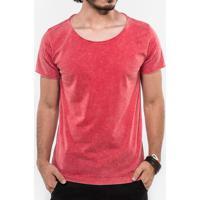 Camiseta Vermelha Marmorizada 103114