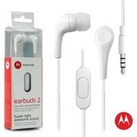 Fone De Ouvido Motorola Estereo Earbuds 2, Intra-Auricular Com Microfone - Branco Branco - Unissex