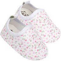 Sapatinho Para Bebê Tico'S Baby Calce Fácil Branco Floral