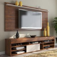 Rack Com Painel Para Tv Até 55 Polegadas 1 Porta Jhon Seda/Off White - Viero Móveis